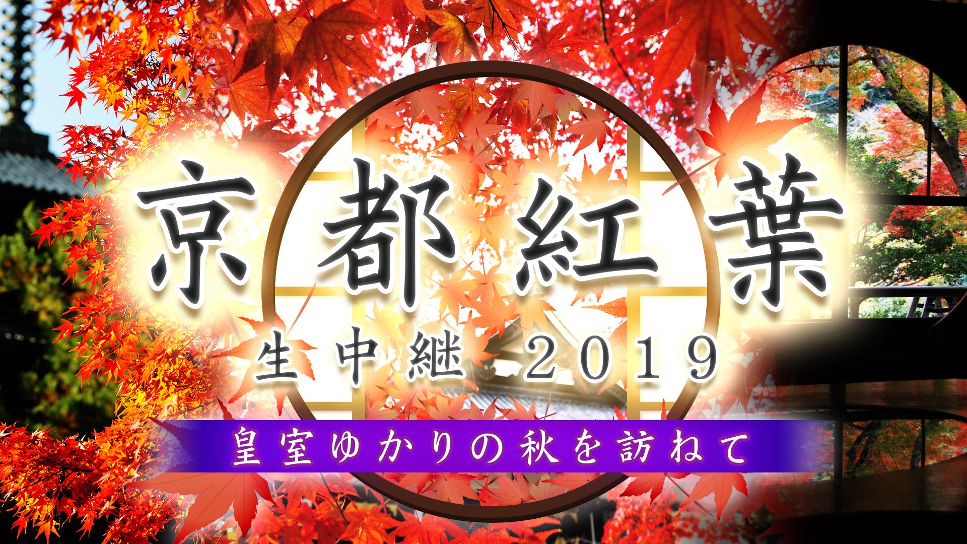 京都紅葉生中継2019~皇室ゆかりの秋を訪ねて~