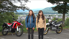 女子会〝biko〟バイクで野宿!