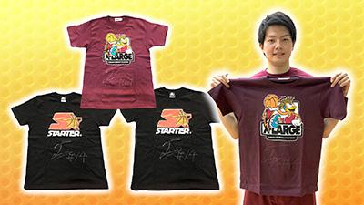 辻直人選手サイン入りコラボTシャツ