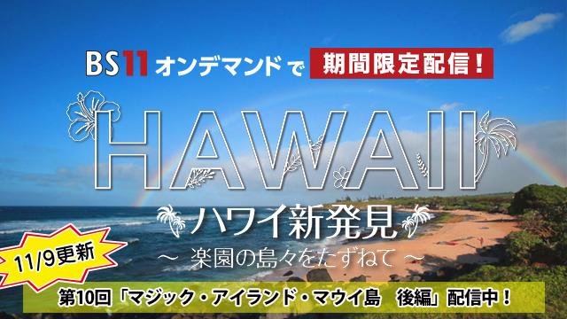 BS11オンデマンド ハワイ#10(1週目)