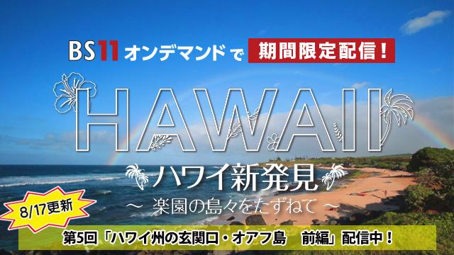 BS11オンデマンド ハワイ第5弾(1週目)